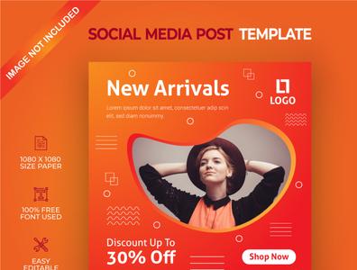 New arrivals social media post template
