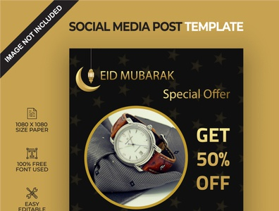 Special eid offer social media post