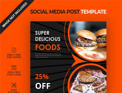 Super delicious food social media post