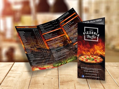 Flyer for Pizzeria Buffo