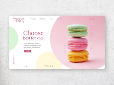 Macaron Factory website mockup