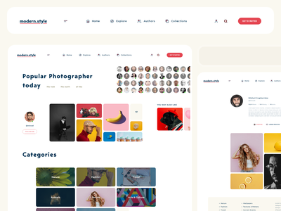 modern.stye - photographers social web uxdesign uidesign inspiration photography social clear design clean ui.design minimal ux typography branding web ui design