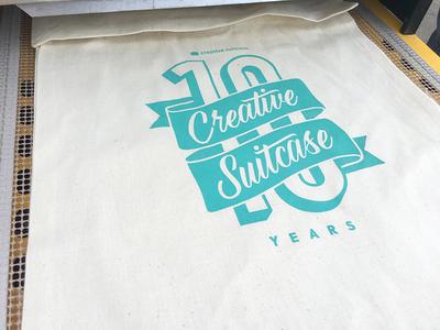 Creative Suitcase 10 Year Tote Design
