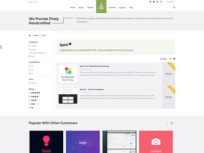 Store Products Page [WIP] - ThemeTree 4 2.0 themetree wip wep themetree 2.0 products store page index