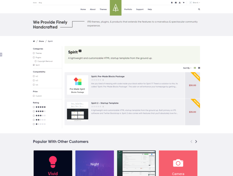 Store Products Page [WIP] - ThemeTree 4 2.0