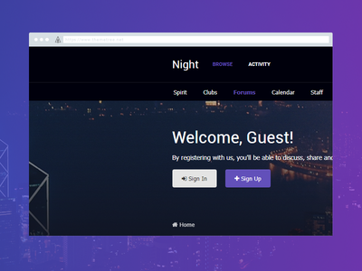 Night Preview (4.3 Official Release) 4.3 themetree preview ip board night
