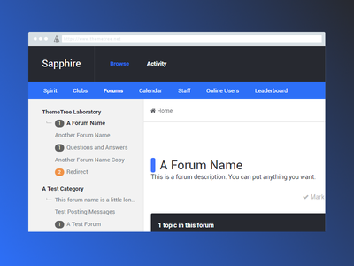 Sapphire Preview [WIP] preview themetree ip board sapphire