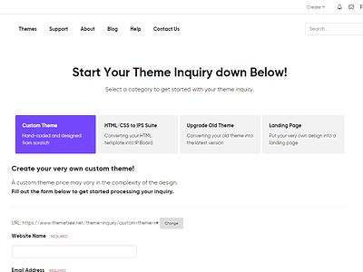 Theme Inquiry Page - ThemeTree 4 page theme theme inquiry themetree 4 themetree