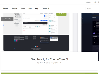 Blog Index + Article [WIP] - ThemeTree 4 page themetree 4 themetree wip article index blog