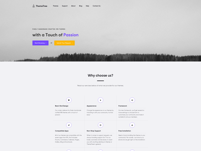 Homepage (Landing Page) - ThemeTree 4 themetree 4 themetree page landing homepage
