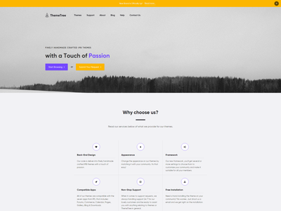 New Brand Is Officially Up! themetree 4 themetree officially brand new