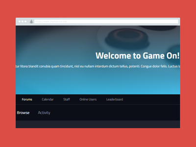 """Get Your """"Game On"""" Preview [WIP] ip board themetree wip preview game game on"""
