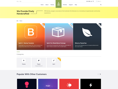 Store Index Page [WIP] - ThemeTree 4 2.0 web themetree 2.0 themetree wip page index store