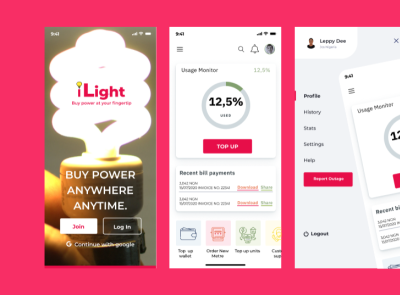 iLight: Buying power at your fingertip app design ux