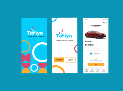 Tafiya: Travel in style and comfort design app ux