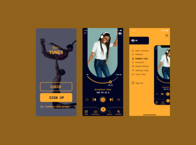 TUNES: Your Favorite Radio Stations, Anywhere, Anytime app design ux