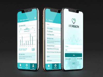 ARDHealth mobile app design app ui ui design mobile app application mobile ui product design interfacedesign