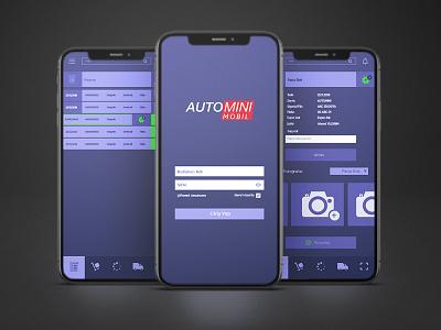 Automini app ui ux mobile app mobile app design ui design application mobile ui product design interfacedesign