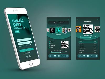 Music Player App ui ux design application ui design design mobile ui music player music app ui music app interfacedesign product design ux app ui