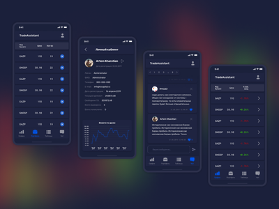 Trade Assistant (Terminal) terminal trade mobile first adaptive web ux ui