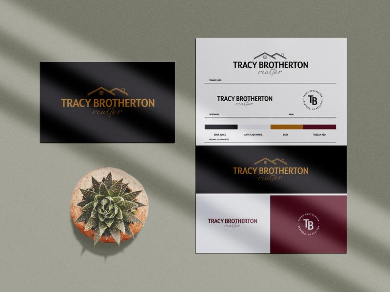 Tracy Brotherton - Realtor Branding realtor realty branding design logo design