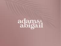 Adams & Abigail - Fashion Wordmark