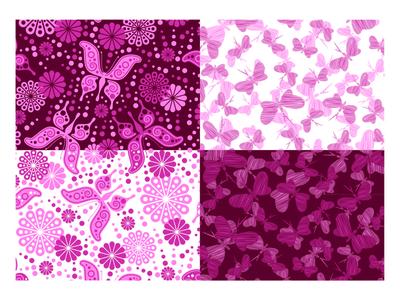 Butterfly in Seamless Pattern