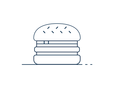 Burger icon lines food burger