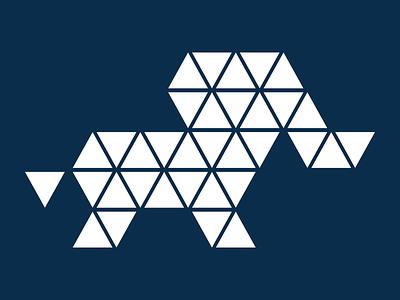 Elephant Negative polygonal triangular elephant