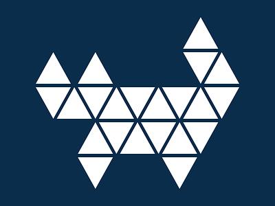 Cat Dark polygonal triangular cat
