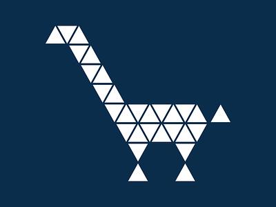 Giraffe Dark polygonal triangular giraffe