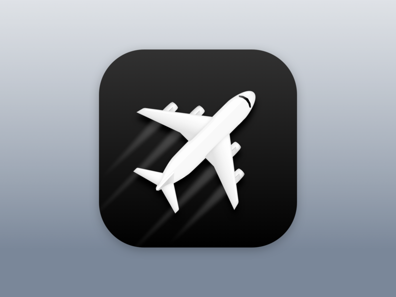 Flighty App Icon Dribbble On By Verena Ortlieb