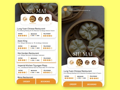 Food Place App Concept