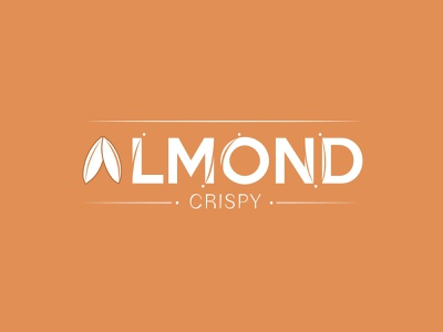Almond Crispy's Logo Brown Version adobe logo ui vector illustration adobe illustrator design app typographic logomark wattermark logotypedesign logodesign typogaphy crispy logotypo almond