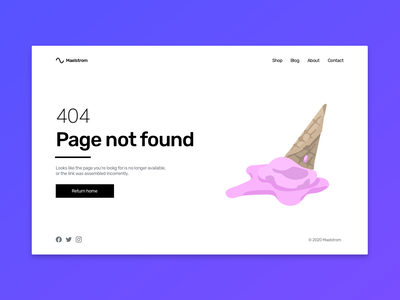 404 Page error 404 website web ux ui design dailyuichallenge dailyui