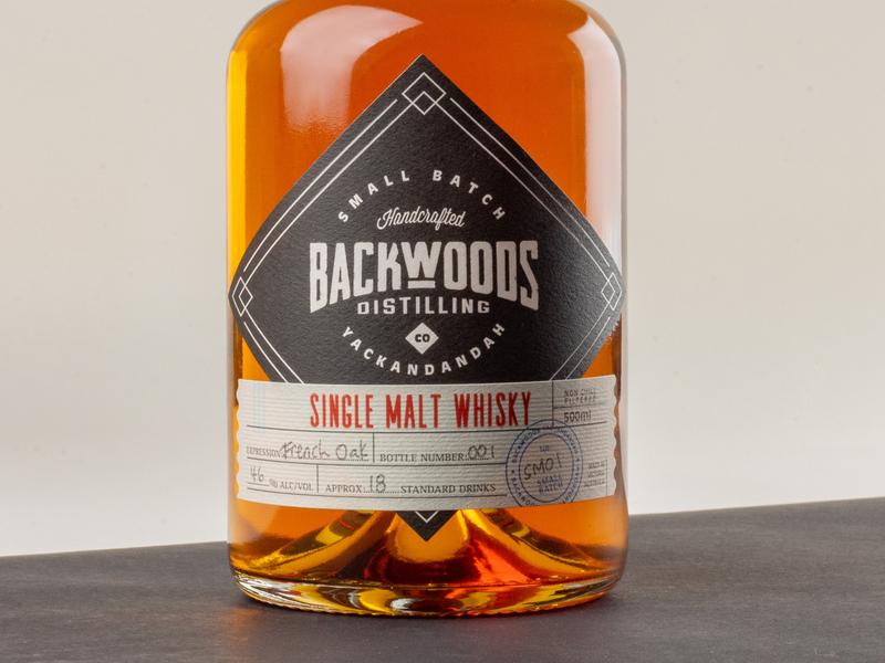 Backwoods Whiskey Packaging label design packaging creative wiltshire logo design logo branding whiskey whiskey and branding