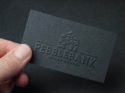 Pebblebank Business Card creative wiltshire logodesign monogram letterpress business card logo design logo branding