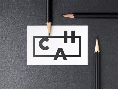 C.H.A. LOGO lettering lettermark pencils typography business card logo logo design branding