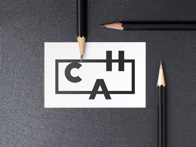 C.H.A. LOGO lettering lettermark pencils typography business card logo logo design branding