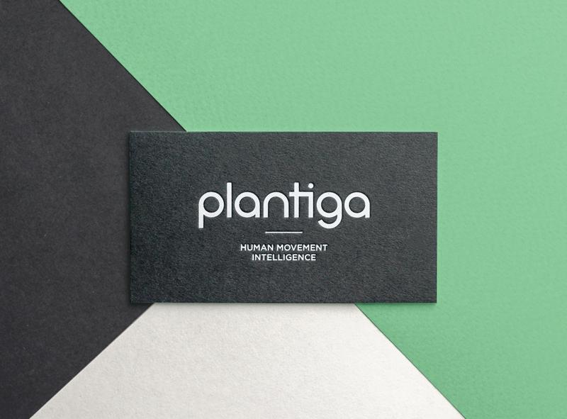 Plantiga Branding typography monogram wordmark letterpress custom lettering custom type business card logo design logo branding