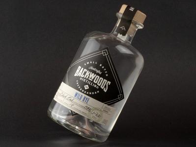 Backwoods Branding wordmark monogram typography creative wiltshire logo design logo branding packaging label whiskey rye