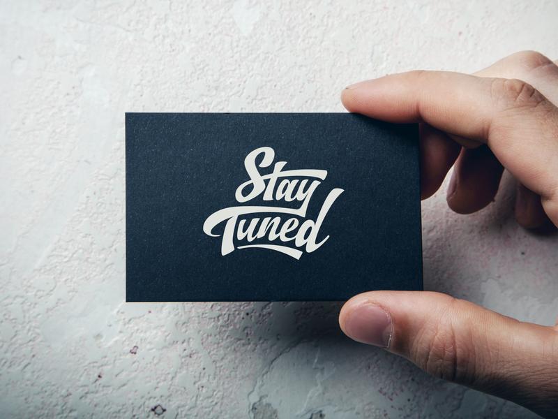 Stay Tuned Logo wiltshire business card custom type wordmark monogram custom lettering typography logo design logo branding