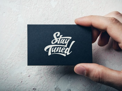 Stay Tuned Logo wiltshire business card custom type wordmark monogram custom lettering typography logo design logo branding
