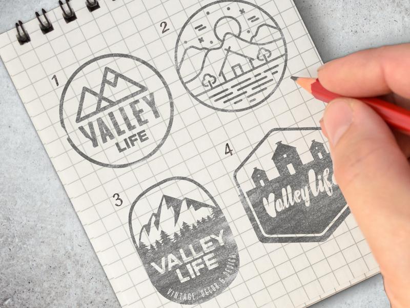 Design Concepts for Shop wordmark creative wiltshire illustration custom lettering monogram process wip logoprocess logo design logo branding