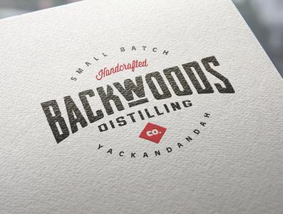 Backwoods Distilling Co Branding custom type monogram custom lettering wordmark typography creative wiltshire logo design logo branding