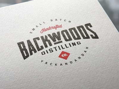 Backwoods Distilling Co Branding custom type monogram custom lettering wordmark typography creative wiltshire logo design logo branding