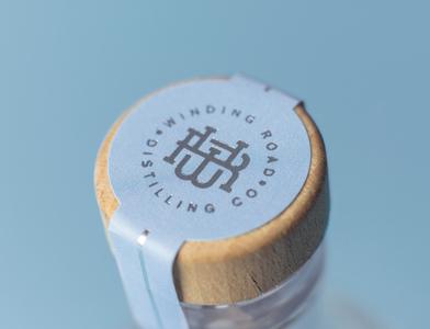 Winding Road Distilling Co. wiltshire packaging custom type monogram custom lettering wordmark typography creative logo design branding