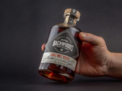 Backwoods Distilling Co. Packaging wordmark packaging custom type monogram typography creative wiltshire logo logo design branding