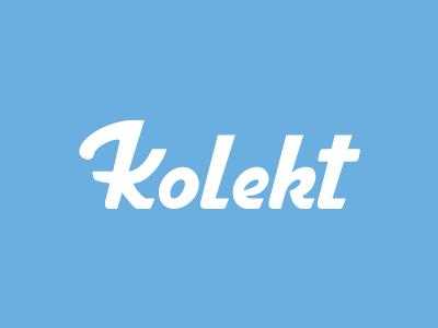 Kolekt design loyalty shopping store simple logo charity collect logotype retro app custom type wordmark