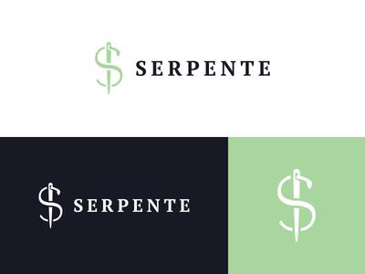 Serpente snake design logo needle clothing fashion thread s dollar